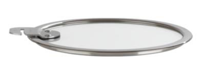 3 couvercles plats CRISTEL 16/18/20 cm  en verre trempé