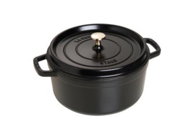 Cocotte ronde STAUB 30 cm noire