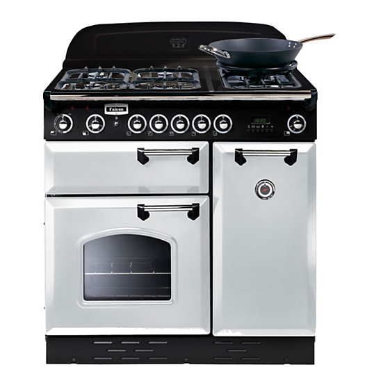 Piano de cuisson falcon classic 90 clas90dfwhc - Falcon kitchener 90 inox ...