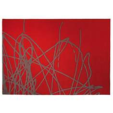 Tapis Brainstorm ESPRIT HOME, rouge