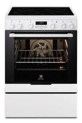 Cuisinière ELECTROLUX EKC6670AOW vitrocéramique 4 foyers