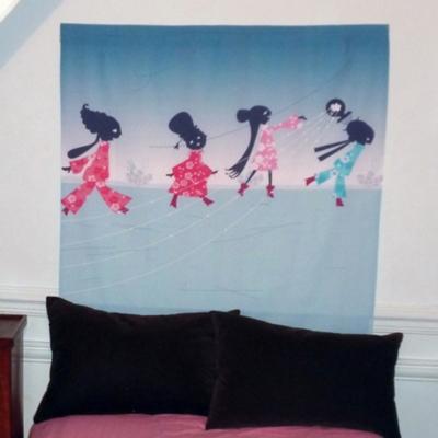 t te de lit enfant petites femmes mademoiselle tiss chambre enfant b b compl te chambre enfant. Black Bedroom Furniture Sets. Home Design Ideas