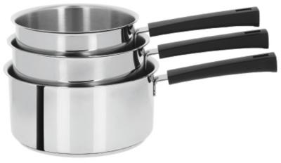 Set 3 casseroles CRISTEL Mutine poignée  noire