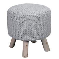 Pouf Montana THE RUG REPUBLIC, gris