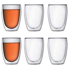 Lot de 6 verres double paroi BODUM 35 cl...