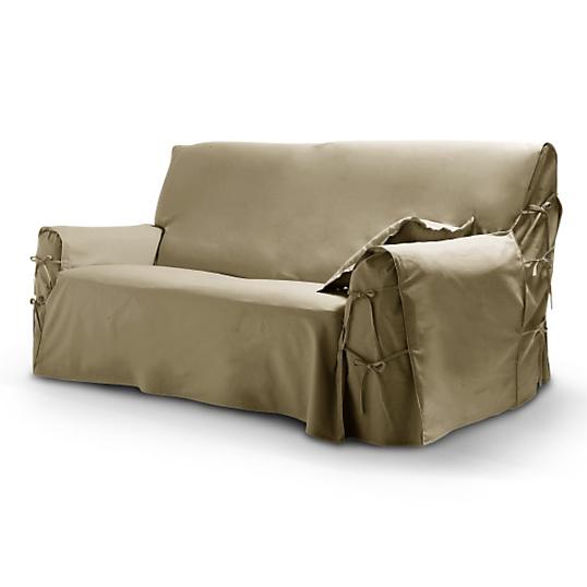 housse pour canap 2 places tutti tempo taupe. Black Bedroom Furniture Sets. Home Design Ideas