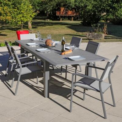Table ARANO aluminium 200/305 X 100 MEDICIS