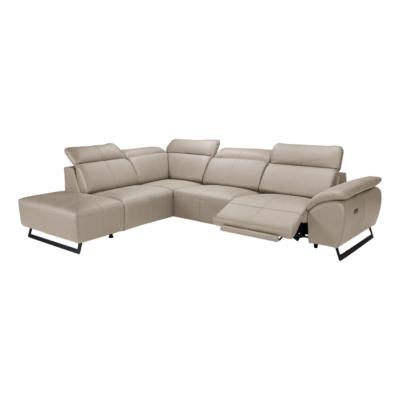 Canapé d'angle cuir 1 relax Cody