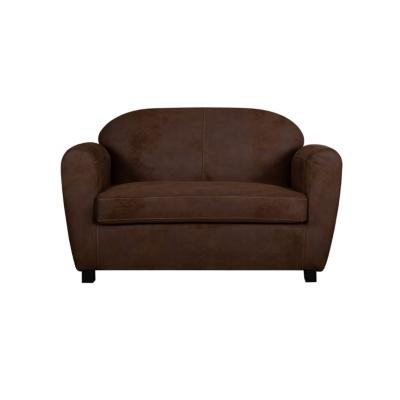Canapé microfibre aspect cuir vieilli  Owen Camif