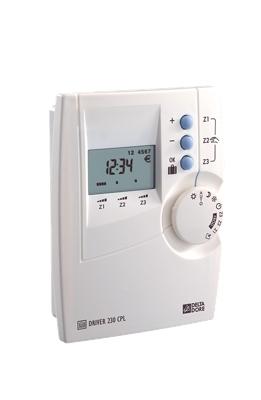 Programmateur récepteur courant  porteur 1 à 3 zones DRIVER 230 CPL/FP
