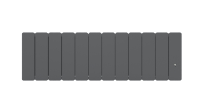 Radiateur Bellagio plinthe connecté avec Netatmo gris anthracite NOIROT