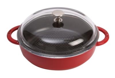 Sauteuse STAUB Hexagon rouge 24 cm avec couvercle