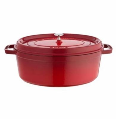 Cocotte ovale STAUB 33 cm rouge piment