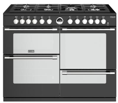 Piano de cuisson mixte garanti 5 ans PSTERDX110DFBL STOVES