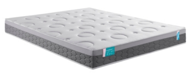 Epaisseur : 24 cm Âme : 5 cm de latex moelleux 20% naturel de 71 kg/m³ associé à la technologie principale et exclusive de DUNLOPILLO, LAérial. Un moulage de mousse monobloc que polyuréthane haute résilience 46 kg/m³ de 15 cm. 7 zones de confort différe