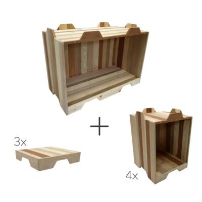 Ensemble de 4 Lexi simples, 1 Lexi double et 3 tops