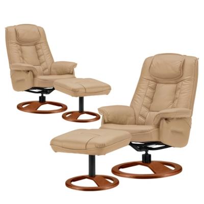 Lot de 2 fauteuils relax cuir Nec