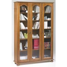 Bibliothèque Cluzel 3 portes teinté chên...