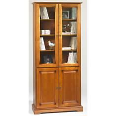 Bibliothèque Florac 4 portes, merisier