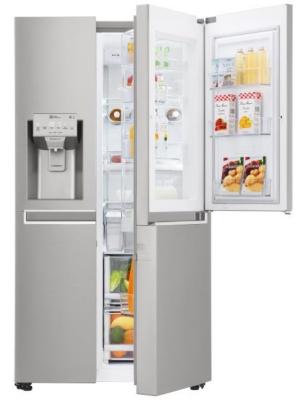 Réfrigérateur Américain Door-in-Door - Réfrigérateur No-Frost : 405 L - Door-in-Door : grand espace ouvrable d'une seule pression + moins de déperdition d'air froid + espace personnalisable pour toute la famille - Xtra duo Space - Tiroir Snacking - F