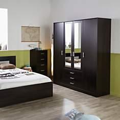Armoire 4 portes 3 tiroirs Pirmin