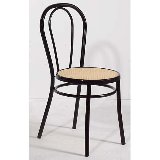 Chaise bistrot noire for Chaise bistrot