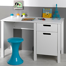 Lit mi haut scoop 90 x 190 cm for Bureau meuble camif