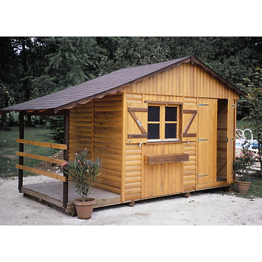 Abri de jardin c i h b maine 2000 plancher et bucher for Abri de jardin autoclave avec plancher