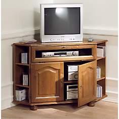 Meuble TV d'angle Cluzel à abattant, chê...