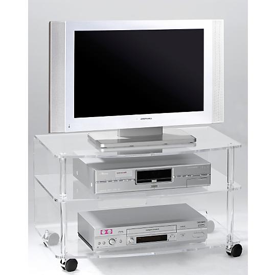 Meuble tv cristaline altuglas incolore 70 cm - Meuble tv hauteur 70 cm ...