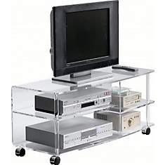 Meuble TV plasma Cristaline en Altuglas