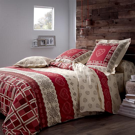 Parure de lit cosy tradilinge for Linge de lit style chalet montagne