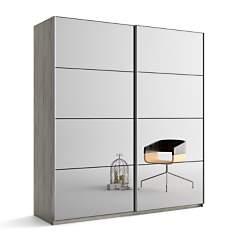 Armoire 2 portes miroir Delphy