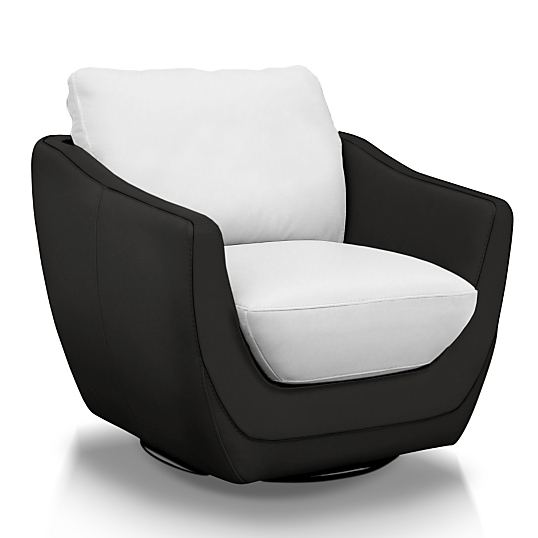 fauteuil pivotant cuir elvis. Black Bedroom Furniture Sets. Home Design Ideas