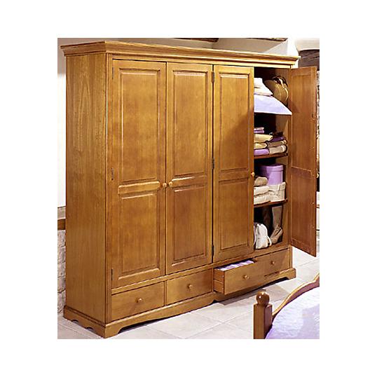 Armoire hastings 4 portes et 4 tiroirs armoires - Camif meubles chambre ...