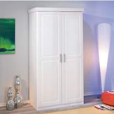 Armoire 2 portes Idaline teintée blanc