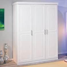 Armoire 3 portes Idaline blanchie