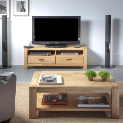 Ensemble table basse et meuble TV Luminescence