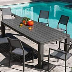 Table OCEO Latino, aluminium 180/240 x 9...