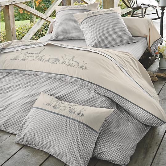 housse de couette percale little garden sylvie thiriez. Black Bedroom Furniture Sets. Home Design Ideas