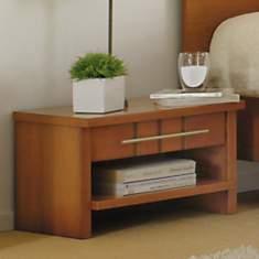 Chevet 1 niche 1 tiroir Mareva merisier
