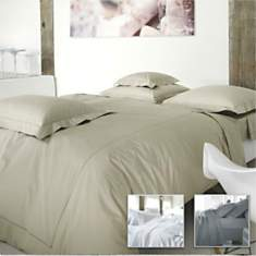 Housse de couette percale Marquise  BLAN...