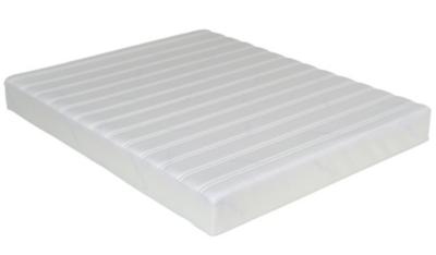 Âme : 13 cm de mousse polyuréthane HR 40 kg/m3 à 7 zones de confort + 6 cm de mousse à mémoire 65 kg/m3. Epaisseur de lâme : 19 cm. Deux faces de couchage : - 1 face 2 cm de mousse à mémoire « soft contact » 50 kg/m3 piquée dans la housse - 1 face Aerofle