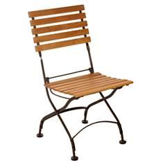 Lot de 2 chaises pliantes en fer forgé  ...