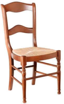 Lot de 4 chaises dos barrettes Mélanie