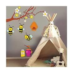 Sticker abeilles sur branches