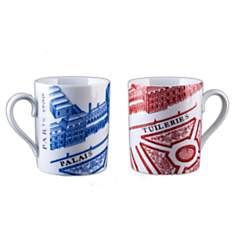 2 Mugs Porcelaine de Limoges PALAIS DES ...