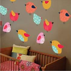 Sticker oiseaux colorés