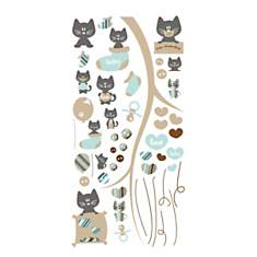 Stickers bébé Mes petits chats 120x60 cm...