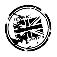 Sticker mural Londres Great britain 25x2...